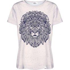 Colour Pleasure Koszulka damska CP-030 210 granatowo-beżowa r. XL/XXL. Brązowe bluzki damskie Colour pleasure, xl. Za 70,35 zł.