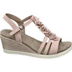 Rzymianki damskie: sandały damskie Easy Street różowe