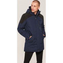 Płaszcz z kapturem - Granatowy. Niebieskie płaszcze na zamek męskie marki House, l. Za 249,99 zł.