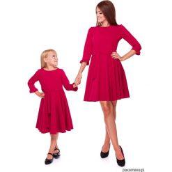 LATORI - Sukienka z kolekcji Mama i córka LD30. Różowe sukienki dziewczęce z falbanami Pakamera, w paski, z tkaniny, eleganckie. Za 69,00 zł.
