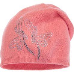 Czapki zimowe damskie: Różowa czapka z ważkami QUIOSQUE