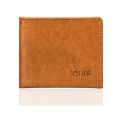Portfele męskie: Elegancki jasno brązowy skórzany męski portfel SOLIER  RYLEIGH
