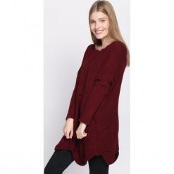 Bordowy Sweter Intent. Czerwone swetry klasyczne damskie Born2be, na jesień, uniwersalny. Za 69,99 zł.
