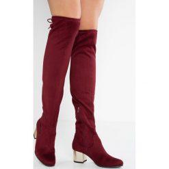 Mtng Muszkieterki burdeos. Czerwone buty zimowe damskie mtng, z materiału. W wyprzedaży za 188,30 zł.