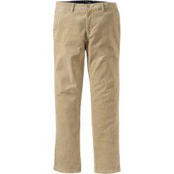 Spodnie sztruksowe chino Regular Fit bonprix jasny khaki. Brązowe chinosy męskie marki bonprix, ze sztruksu. Za 109,99 zł.