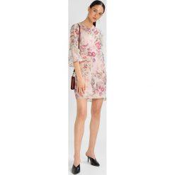 Sukienki hiszpanki: Sisley 3/4 FLORAL BURNOUT STRIPE DRESS Sukienka letnia offwhite
