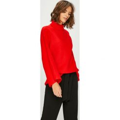Answear - Sweter Watch Me. Czerwone swetry klasyczne damskie ANSWEAR, l, z dzianiny. W wyprzedaży za 89,90 zł.