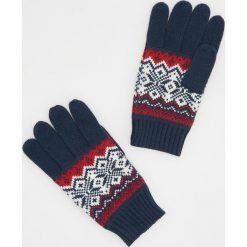 Rękawiczki - Granatowy. Niebieskie rękawiczki męskie marki Reserved. Za 39,99 zł.