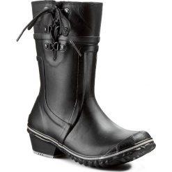 Kalosze SOREL - Conquest Carly Glow NL1973 Black/Silver Sage 010. Czarne buty zimowe damskie Sorel, z gumy. W wyprzedaży za 249,00 zł.