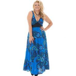 Odzież damska: Sukienka w kolorze niebiesko-czarnym