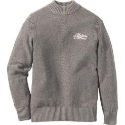 Swetry męskie: Sweter ze stójką Regular Fit bonprix szary melanż
