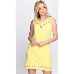 Sukienki: Żółta Sukienka Wise Decision