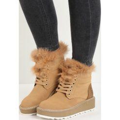 Camelowe Śniegowce Over You. Brązowe buty zimowe damskie Born2be. Za 109,99 zł.