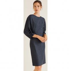 Mango - Sukienka Moon. Szare sukienki mini Mango, na co dzień, l, z elastanu, casualowe, z okrągłym kołnierzem, proste. Za 199,90 zł.