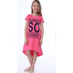 Sukienka dziewczęca z napisami amarantowa NDZ8247. Szare sukienki dziewczęce marki Fasardi. Za 59,00 zł.