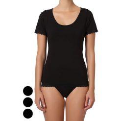 T-shirty damskie: T-shirt (3 szt.) w kolorze czarnym