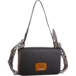 Torebka LOVE MOSCHINO - JC4253PP05KF010A  Bianco/Cuoio/Nero. Czarne torebki klasyczne damskie Love Moschino, ze skóry ekologicznej. W wyprzedaży za 469,00 zł.