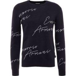 Emporio Armani Sweter blue. Szare swetry klasyczne męskie marki Emporio Armani, l, z bawełny, z kapturem. Za 789,00 zł.