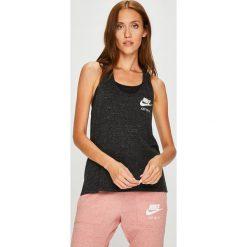 Nike Sportswear - Top. Brązowe topy sportowe damskie Nike Sportswear, l, z bawełny, z okrągłym kołnierzem. Za 119,90 zł.