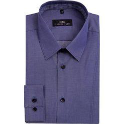 Koszula MICHELE KDNE000033. Niebieskie koszule męskie na spinki marki bonprix, m, z nadrukiem, z klasycznym kołnierzykiem, z długim rękawem. Za 199,00 zł.