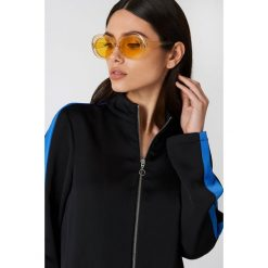 Okulary przeciwsłoneczne damskie: NA-KD Trend Owalne okulary przeciwsłoneczne – Yellow