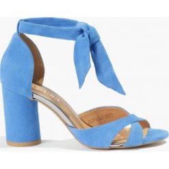 Rzymianki damskie: Sandały niebieskie Gulietta