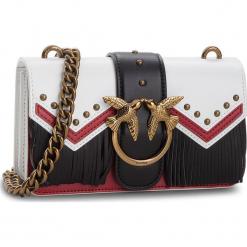 Torebka PINKO - Mini Love Tricolor Tracolla VI AI 18-19 PLTT 1P218A Y51S Bianco/Ros. Białe torebki klasyczne damskie Pinko, ze skóry. Za 1409,00 zł.