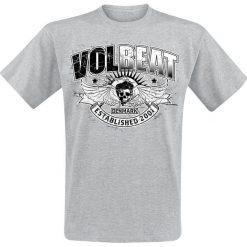 T-shirty męskie: Volbeat Skullwing Ribbon T-Shirt odcienie szarego