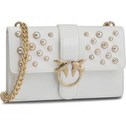 Torebka PINKO - Love Leather Pearls Tracolla Al 18-19 PLTT 1P216H Y4YB White Z04. Białe torebki klasyczne damskie Pinko, ze skóry. Za 1639,00 zł.