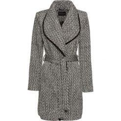 Płaszcz kopertowy bonprix czarno-biały wzorzysty. Czarne płaszcze damskie bonprix. Za 239,99 zł.