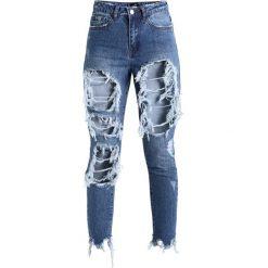 Missguided RIOT SUPER SHRED MOM LIGHT VINTAGE Jeansy Slim Fit light blue. Niebieskie jeansy damskie Missguided. Za 149,00 zł.