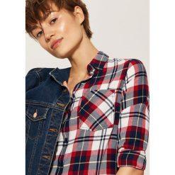 Koszula w kratę - Granatowy. Szare koszule męskie marki House, l, z bawełny. Za 39,99 zł.