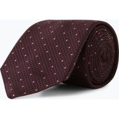 BOSS - Krawat jedwabny męski – Tie 7,5 cm, lila. Brązowe krawaty męskie Boss, z jedwabiu, eleganckie. Za 299,95 zł.