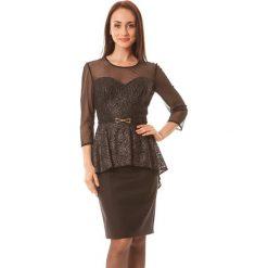 Sukienki hiszpanki: Sukienka w kolorze srebrno-czarnym
