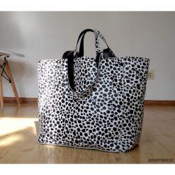 Torebki klasyczne damskie: Skórzana torebka drukowana w drobny wzór-Sale!