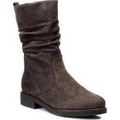 Kozaki GABOR - 72.703.39 Dk Grey. Szare buty zimowe damskie Gabor, ze skóry, na obcasie. W wyprzedaży za 349,00 zł.