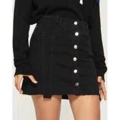 Spódniczki: Spódnica z guzikami - Czarny