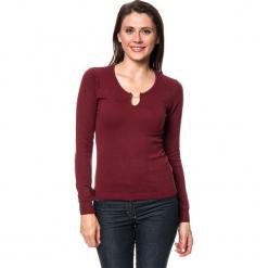 Sweter w kolorze bordowym. Czerwone swetry klasyczne damskie marki William de Faye, z kaszmiru. W wyprzedaży za 136,95 zł.
