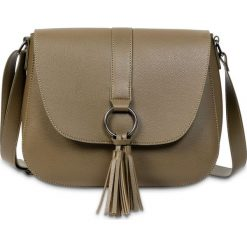 Torebka na ramię bonprix khaki - srebrny oksydowany. Szare torebki klasyczne damskie marki bonprix. Za 74,99 zł.