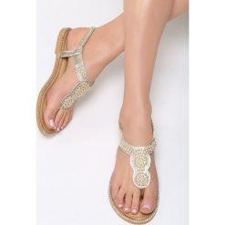 Złote Sandały To The Claskys. Żółte sandały damskie vices, na płaskiej podeszwie. Za 69,99 zł.