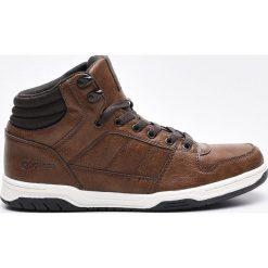 Sportowe buty za kostkę - Brązowy. Czarne halówki męskie marki Kazar, z nubiku, przed kolano, na wysokim obcasie. Za 139,99 zł.