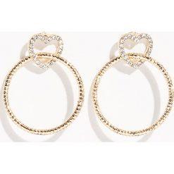 Kolczyki damskie: Kolczyki z kryształkami - Beżowy