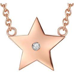 Naszyjniki damskie: Pozłacany naszyjnik z diamentem
