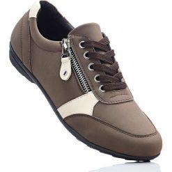 Wygodne buty sznurowane z pianką YouFoam bonprix brązowy. Brązowe buty sportowe damskie marki Graceland, z materiału. Za 59,99 zł.