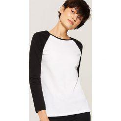 Koszulka z reglanowym rękawem - Biały. Białe bluzki z odkrytymi ramionami House, l. Za 29,99 zł.
