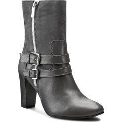 Botki A.J.F. - 00936 Szary 703/540. Szare buty zimowe damskie A.J.F., ze skóry, eleganckie, na zamek. W wyprzedaży za 259,00 zł.