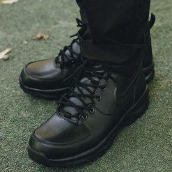 Buty Nike Manoa Leather (454350-003). Szare buty trekkingowe męskie Nike, z materiału, outdoorowe. Za 349,99 zł.