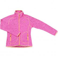 Kurtka polarowa w kolorze różowym. Czerwone kurtki dziewczęce marki Reserved, z kapturem. W wyprzedaży za 115,95 zł.