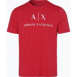 Armani Exchange - T-shirt męski, czerwony. Czarne t-shirty męskie z nadrukiem marki Armani Exchange, l, z materiału, z kapturem. Za 139,95 zł.
