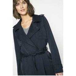 Vero Moda - Płaszcz. Szare płaszcze damskie marki Vero Moda, l, w paski, z elastanu, klasyczne. W wyprzedaży za 89,90 zł.